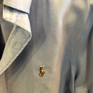 Polo by Ralph Lauren Shirts - Ralph Lauren light blue polo button down LG